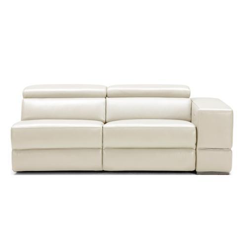 VIG Furniture - Divani Casa Hilgard - Modern Light Grey Leather Left Facing Sectional Sofa with Recliners