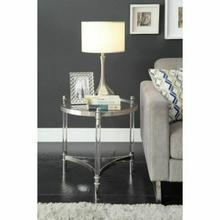 ACME Peony End Table - 80172 - Clear Acrylic - Stainless Steel & Clear Glass