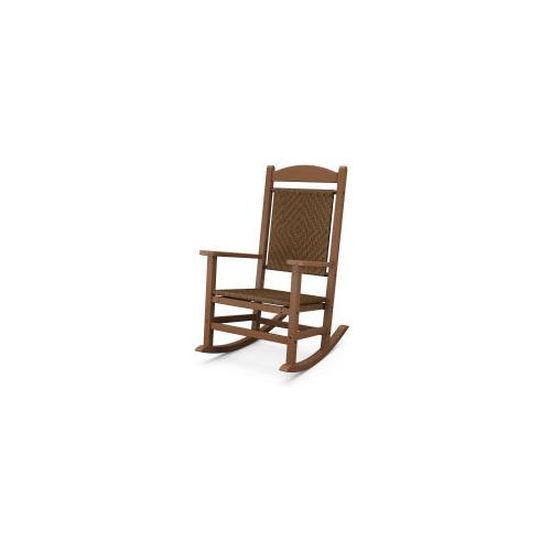 Polywood Furnishings - Presidential Woven Rocking Chair in Tigerwood