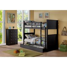 Sasha Black Twin over Twin Bunkbed