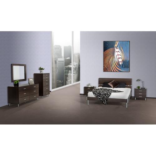 VIG Furniture - Modrest Bravo Modern Wenge Mirror