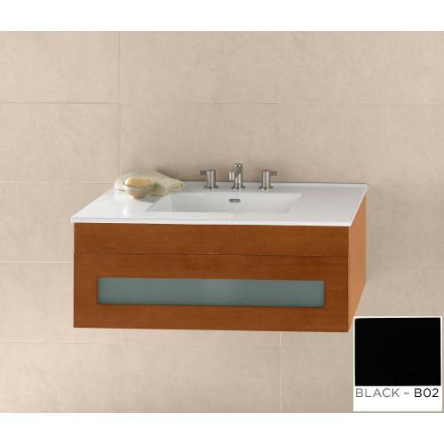 "Ronbow - Rebecca 36"" Wall Mount Bathroom Vanity Base Cabinet in Black"
