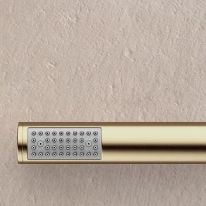 Modern Round Handshower Set - Brushed Brass