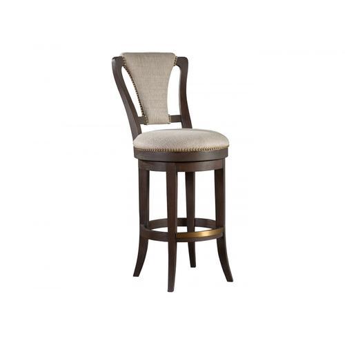 Verbatim Upholstered Swivel Barstool