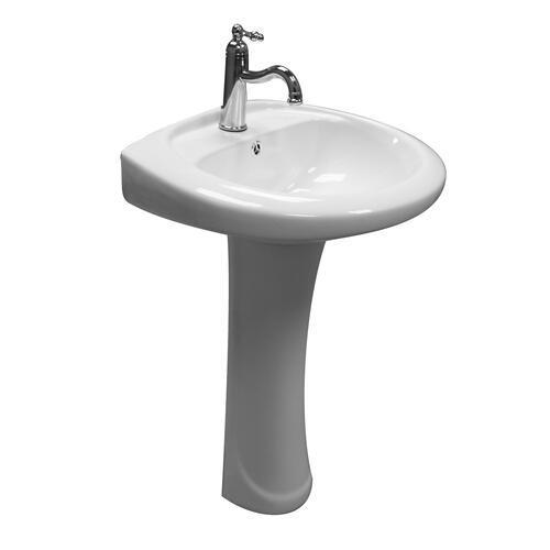 Belmont Pedestal Lavatory - Single-Hole