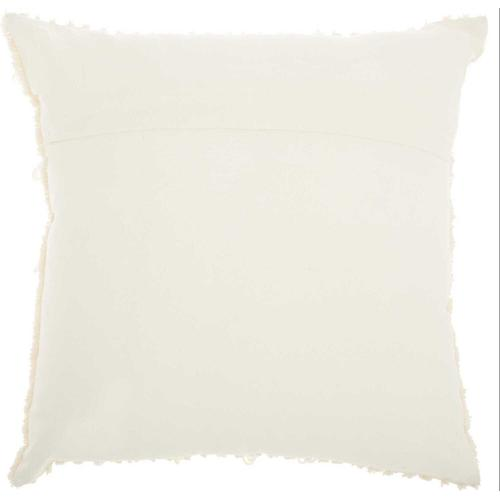 """Life Styles Ns804 Ivory 18"""" X 18"""" Throw Pillow"""