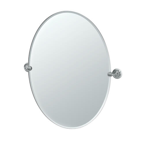 Designer II Oval Mirror in Brushed Brass