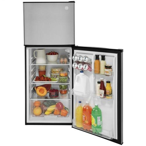 GE® 9.8 Cu. Ft. 12 Volt DC Power Top-Freezer Refrigerator