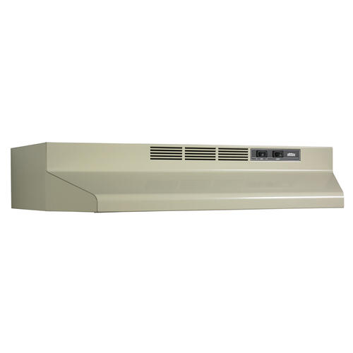 Broan® 30-Inch Convertible Under-Cabinet Range Hood, 160 CFM, Almond