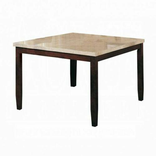 ACME Britney Counter Height Table - 17059 - White Marble & Walnut