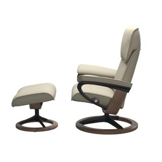 See Details - Stressless® Admiral (L) Signature chair with footstool