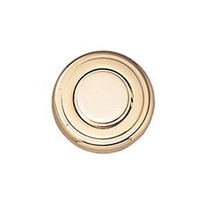 Push Knob Latch (round Knob, Polished Brass)