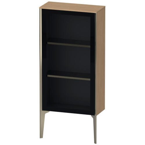 Semi-tall Cabinet With Mirror Door Floorstanding, European Oak (decor)