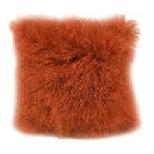 See Details - Lamb Fur Pillow Orange