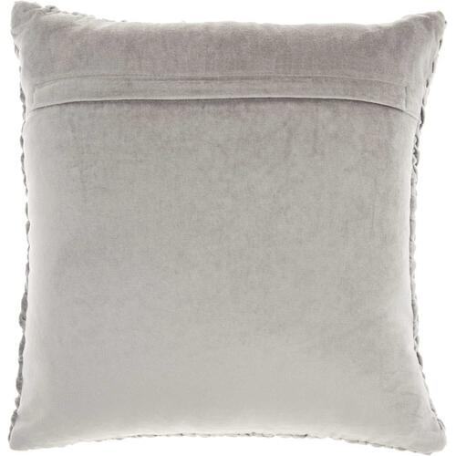 "Life Styles Sc001 Lt Grey 18"" X 18"" Throw Pillow"