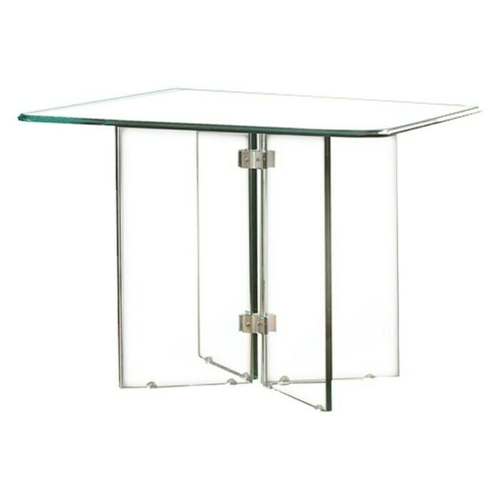 See Details - Square End Table Glass Top, Tempered