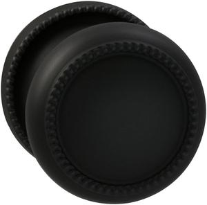 Interior Traditional Beaded Knob Latchset in (US10B Black, Oil-Rubbed, Lacquered) Product Image