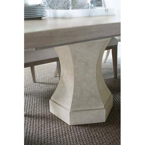 Santa Barbara Rectangular Dining Table in Sandstone (385), Textured Cameo (385)