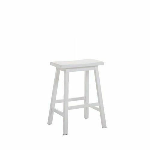 "ACME Gaucho Counter Height Stool (Set-2) - 07302 - White - 24"" Seat Height"