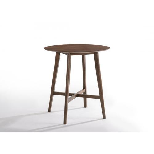 VIG Furniture - Modrest Candice Modern Round Walnut Bar Table