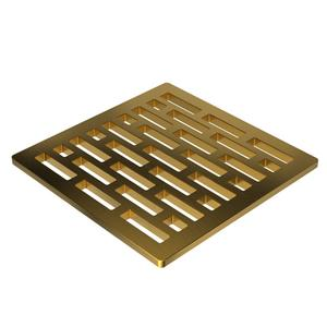 "Satin Gold - PVD 4"" Square Shower Drain"