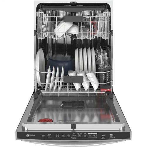 GE Profile - GE Profile™ Fingerprint Resistant Top Control with Stainless Steel Interior Dishwasher with Sanitize Cycle & Twin Turbo Dry Boost