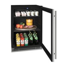 """View Product - Hre124 24"""" Refrigerator With Stainless Frame Finish (115v/60 Hz Volts /60 Hz Hz)"""