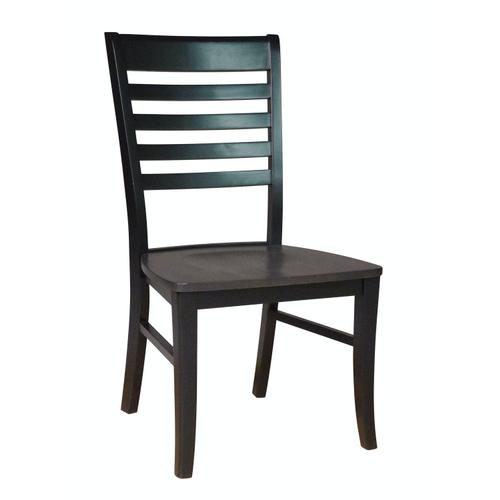Roma Chair in Coal & Black