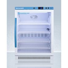 Performance Series Pharma-vac 6 CU.FT. Freestanding ADA Compliant Glass Door Commercial All-refrigerator for the Display and Refrigeration of Vaccines