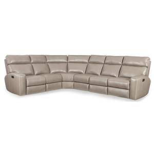 Hooker Furniture - Mowry 4-Piece Power Sectional w/3 Power Recline w/ Power Headrest