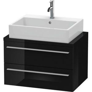 Vanity Unit For Console Compact, Black High Gloss (lacquer)