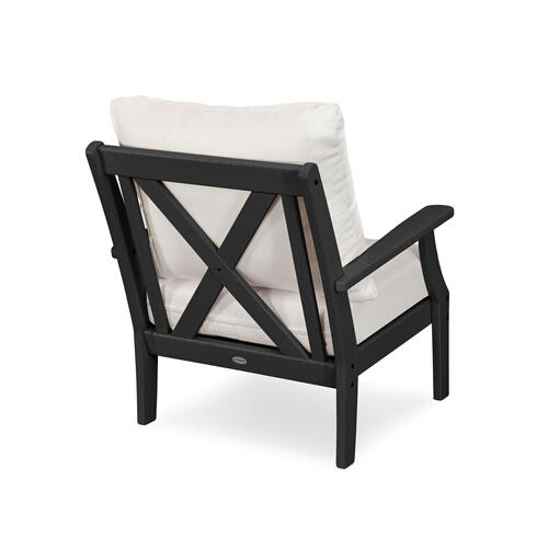 Black & Canvas Granite Braxton Deep Seating Chair