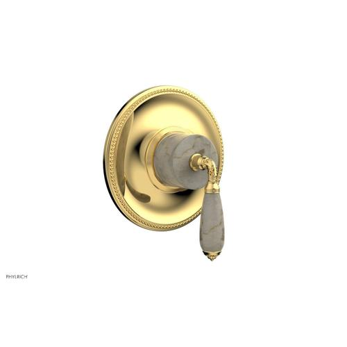 Phylrich - VALENCIA - Thermostatic Shower Trim, Beige Marble Lever Handle TH338D - Polished Gold