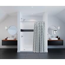 "White 60'' x 74"" x 32'' Shower Wall Set"
