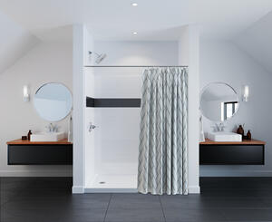 "White 60'' x 74"" x 32'' Shower Wall Set Product Image"