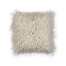 "Pillow L256 Ivory Shaggy 20"" X 20"""