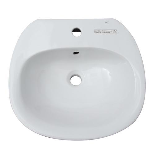 Sensation 550 Wall-Hung Sink - Single-Hole / White