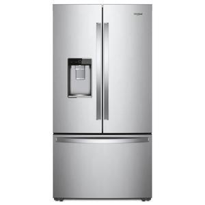 Whirlpool36-inch Wide Counter Depth French Door Refrigerator - 24 cu. ft.