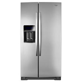 36-inch Wide Side-by-Side Counter Depth Refrigerator with StoreRight Dual Cooling System - 20 cu. ft. Monochromatic Stainless Steel