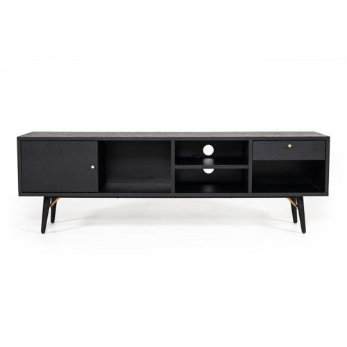 VIG Furniture - Modrest Billy Modern Black Oak & Gold TV Stand