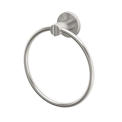 Channel Towel Ring in Satin Nickel