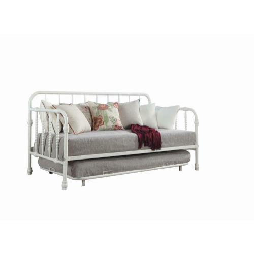 Coaster - Traditional White Metal Daybed