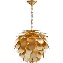View Product - E. F. Chapman Cynara 1 Light 29 inch Gild Chandelier Ceiling Light, Large