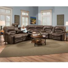 Reclining Sectional w/Drop Down Table & Lights