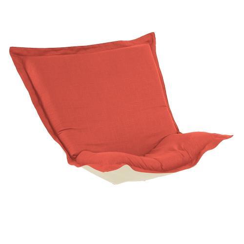 Howard Elliott - Puff Chair Cushion Linen Slub Poppy (Cushion and Cover Only)