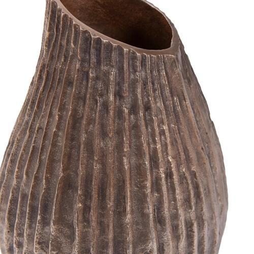 Howard Elliott - Organic Grooved Teardrop Aluminum Vase
