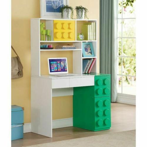 ACME Playground Computer Desk - 30753 - White & Multi-Color
