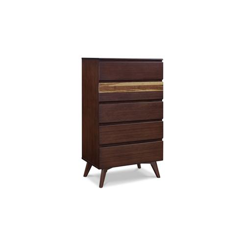 Azara Five Drawer Chest, Sable