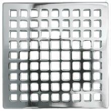 "Gloss Black 4"" Square Shower Drain"