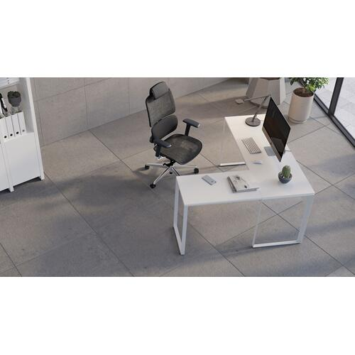 BDI Furniture - Linea 6224 Work Desk Return in Smooth Satin White